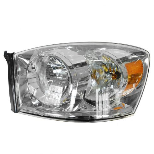 06-08 Dodge Ram PU Headlight w/o Amber Bar LH