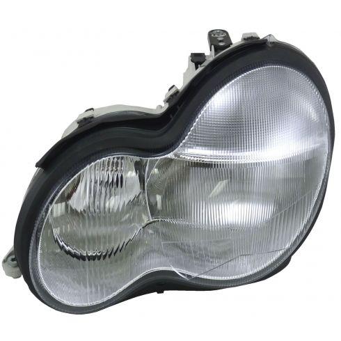 01-07 Mercedes Benz C Class Headlight Driver Side w/o bulb/ballast Xenon