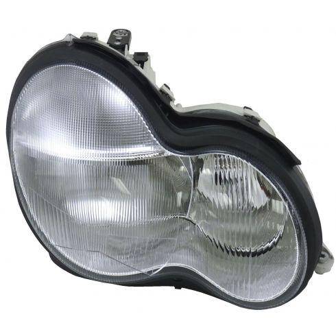 01-07 Mercedes Benz C Class Headlight Passenger Side w/o bulb/ballast Xenon