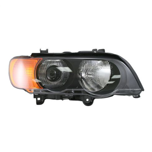 00-03 BMW X5 Headlight HID w/Yellow Signal RH