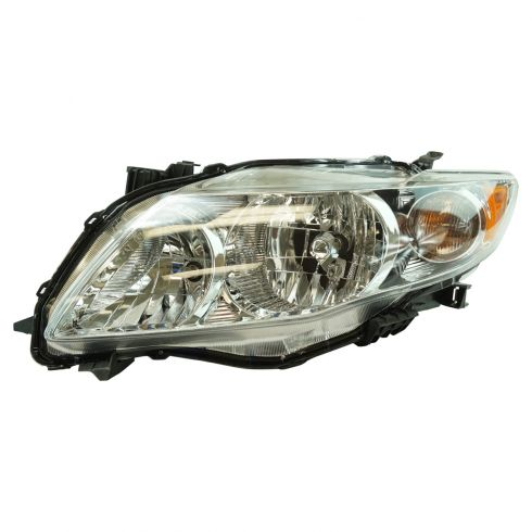 09-10 Toyota Corolla Headlight w/Chrome Housing LH