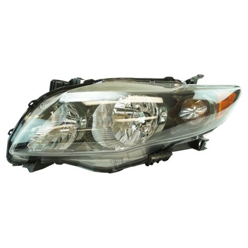 2009-10 Toyota Corolla Headlight w/Black Housing LH