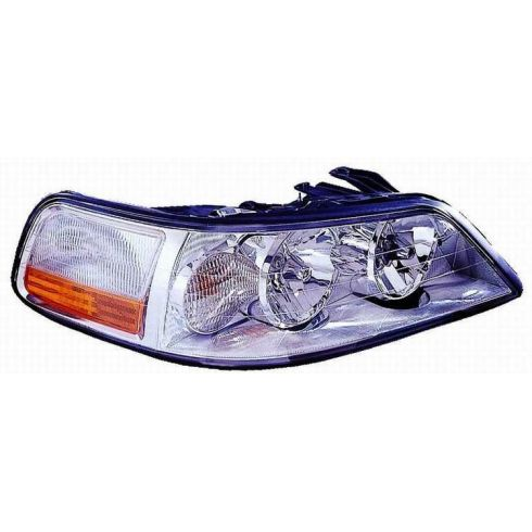 2003-04 Lincoln Towncar HID (w/Ballast) Headlight RH