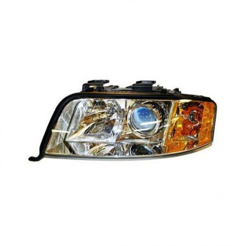 02-04 Audi A6 w/6cyl Halogen Headlight LH