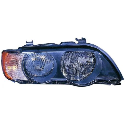 2000-03 BMW X5 Halogen Headlight w/Clear TS RH
