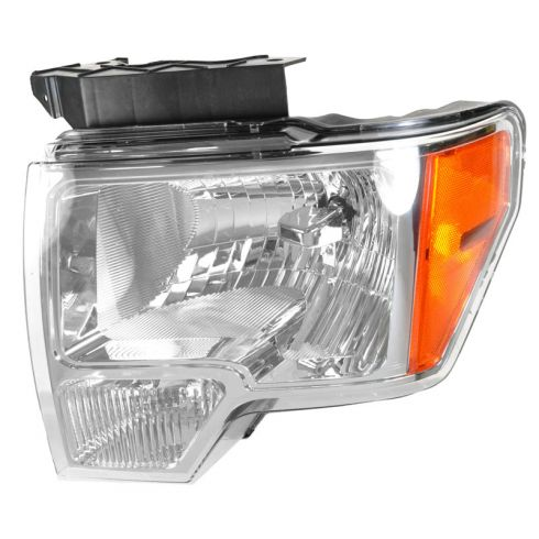 09 (fromt 03/02/09)-11 Ford F150 Headlight w/Chrome Trim LH