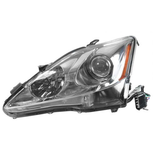 06-08 Lexus IS250, IS350 Halogen Headlight w/o Auto Leveling LH