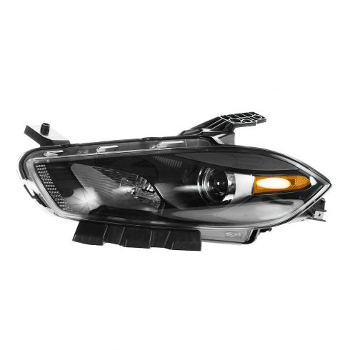 13 Dodge Dart Halogen Headlight w/Black Trim LH