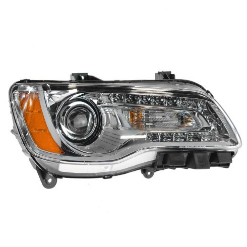 11-14 Chrysler 300 Halogen Headlight w/Chrome Bezel RH