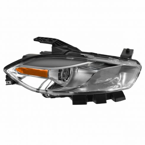13-14 Dodge Dart Halogen Headlight w/ Chrome Trim RH