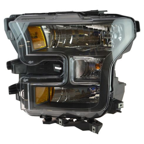 15-16 Ford F150 XL, XLT, Lariat Special Edition Black Halogen Headlight LH (Ford)