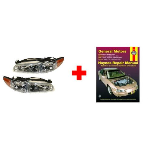 Pontiac Grand Prix Headlight Pair and Haynes Manual