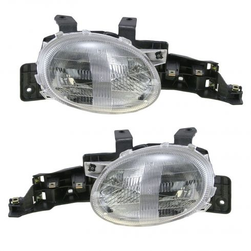 1995-99 Dodge Neon Headlights PAIR