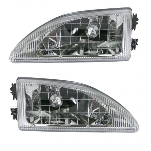 1994-98 Ford Mustang Cobra Headlights Pair