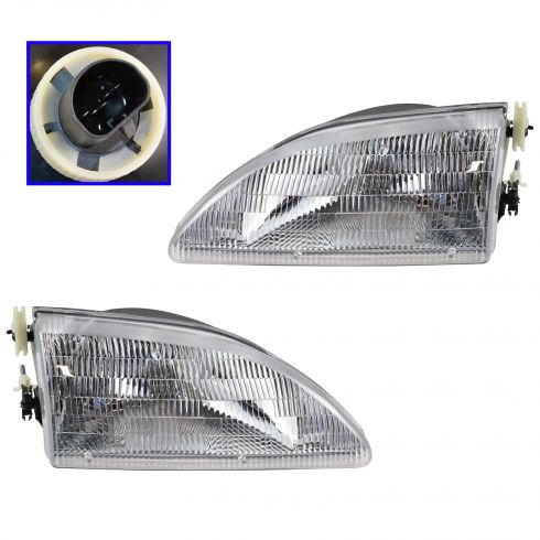 1994-98 Ford Mustang Headlights PAIR
