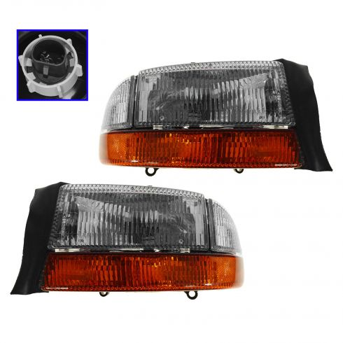 1997-03 Dodge Dakota Headlights pair with market lights