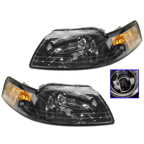 2001-04 Ford Mustang Headlights Pair