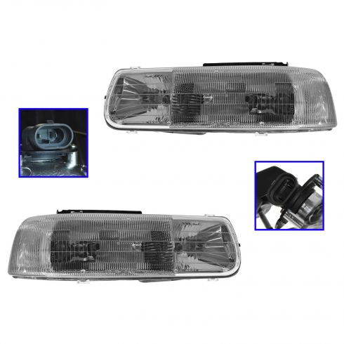 99-02 Silverado Headlights Pair