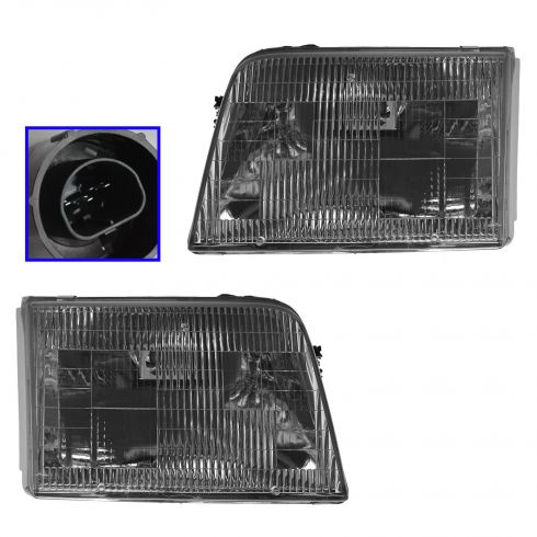 1993-97 Ford Ranger Headlights Pair