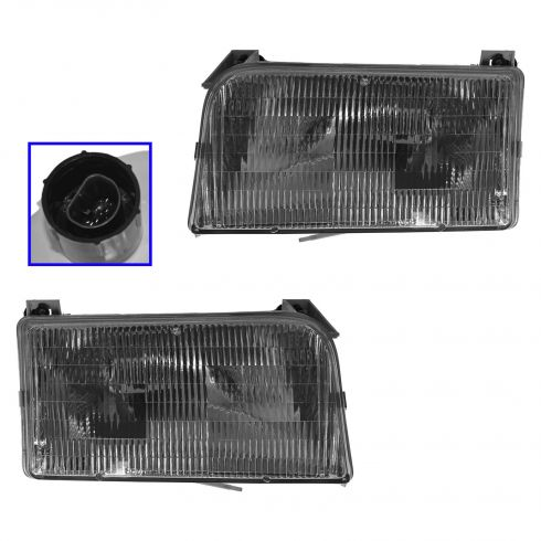 1992-97 Ford Bronco F150 Pickup Headlights Pair