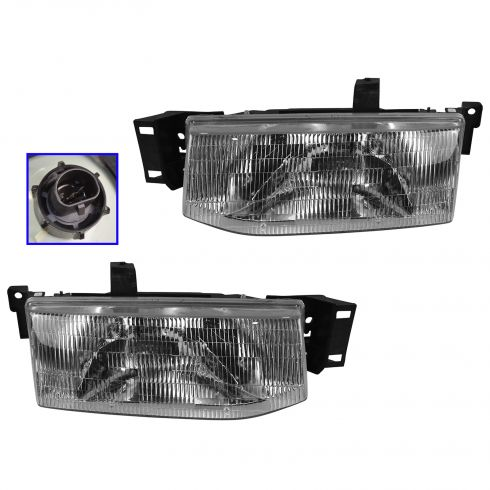 1991-96 Ford Escort Headlights Pair