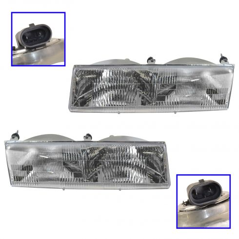 1989-90 Mercury Cougar Grand Marquis Headlights Pair