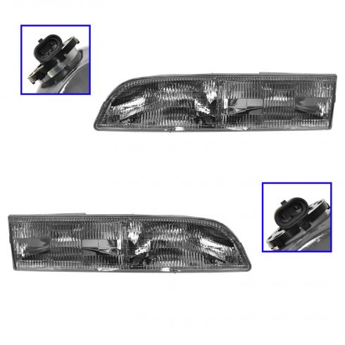 92-97 Crown Vic Headlights PAIR