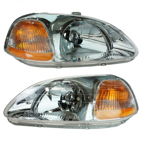 1996-98 Honda Civic Headlight Pair