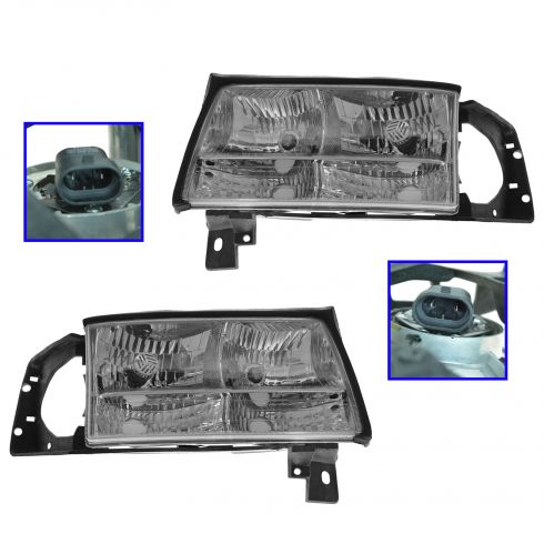 1997-99 Cadillac Deville Composite Headlight Pair