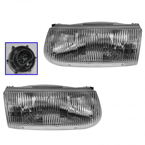 1995-01 Explorer Headlight Pair