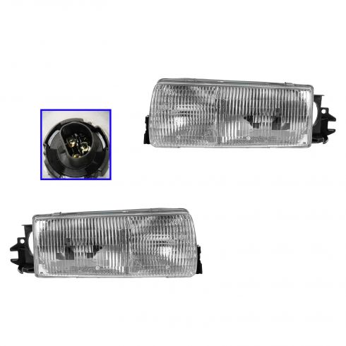 1991-96 Caprice Headlight with mounting panel Pair