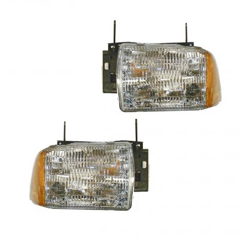 1995-97 Chevrolet S10 Blazer Composite Headlight Pair