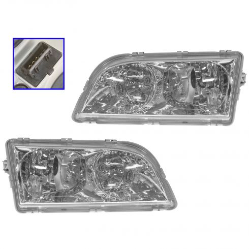 2000-03 Volvo S40 V40 Headlight Pair