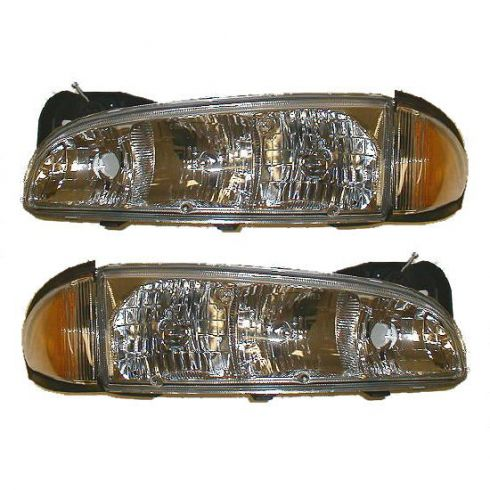 1996-99 Pontiac Bonneville Headlight Pair