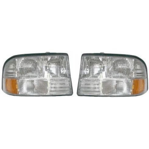 1998-02 GMC S15 Pickup Jimmy Bravada Headlight Pair Without Fog lights
