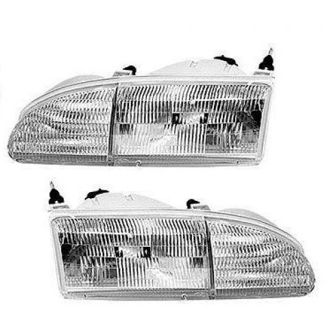 1994-95 Ford Thunderbird Composite Headlight Pair