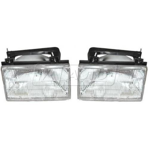 1988-91 Ford Tempo Mercury Topaz Composite Headlight Pair