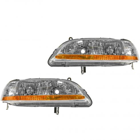 2001-02 Honda Accord Headlight Pair