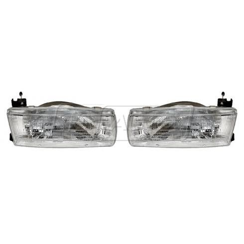 1991-92 Nissan Sentra Composite Headlight Pair