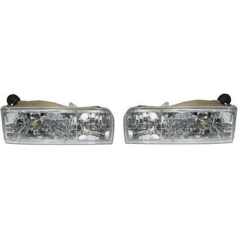 1995-97 Lincoln Town Car Composite Headlight Pair