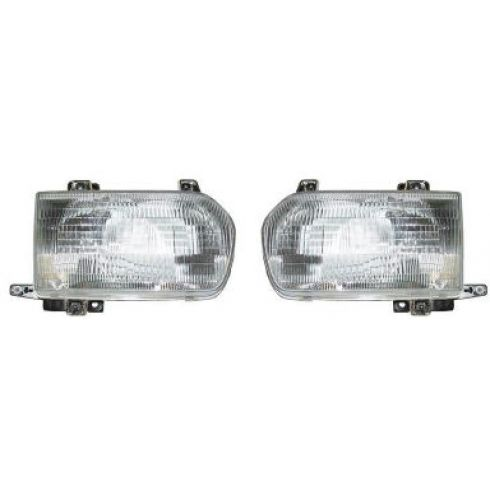 1996-99 Nissan Pathfinder Composite Headlight Pair