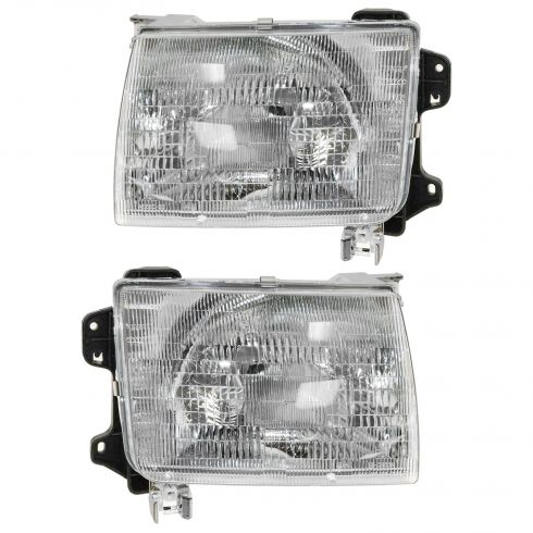 1998-00 Nissan Frontier Composite Headlight Pair