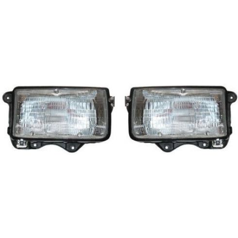 1991-97 Honda Passport Isuzu Rodeo Composite Headlight Pair