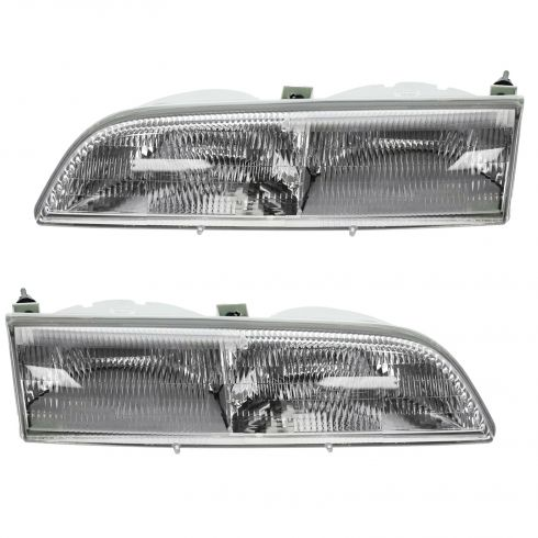 1989-93 Ford Thunderbird Composite Headlight Pair
