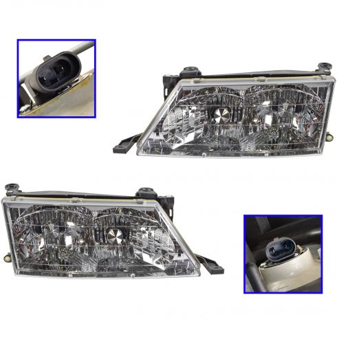1998-99 Toyota Avalon Composite Headlight Pair