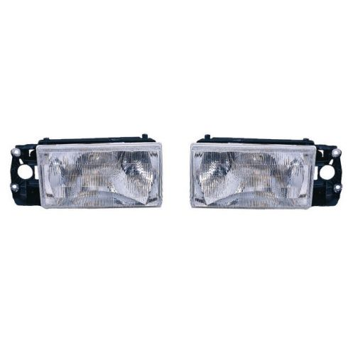 1992-95 Volvo 940 Composite Headlight Pair without Fog Lamps
