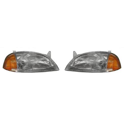 1995-97 Geo Metro Pontiac Firefly Composite Headlight Combo Pair