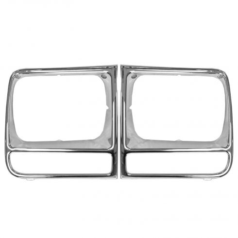 1997-01 Jeep Cherokee Chrome Headlight Trim Bezel Pair