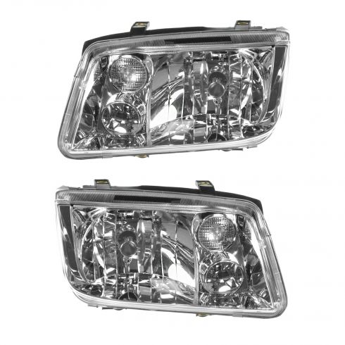 1999-02 Volkswagen Jetta Headlight  w/o Fog Pair