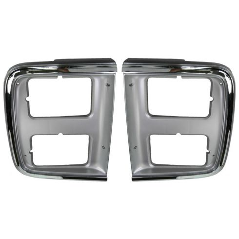 1985-91 Chevy GMC Van Chrome HL Trim Bezel Pair